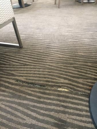 Hilton Garden Inn Mobile East Bay: The Broken Carpet In The HH Garden Inn,