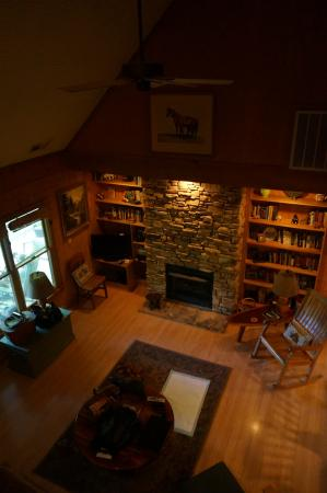 Weaverville, Carolina del Norte: View from upstairs into living room