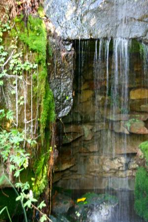 Chandor Gardens: large waterfall grotto