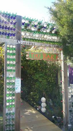 Low-Key Hideaway: Tiki Bar made of bottles