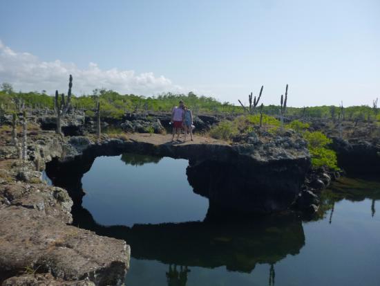 Пуерто-Вильямиль, Эквадор: increíbles formaciones de lava suspendidas sobre el agua