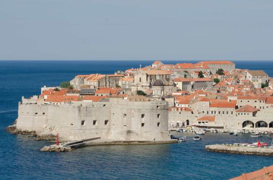 Villa Ragusa Dubrovnik: Actual view from the balcony, best with wine and cheese!