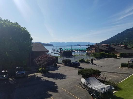 Pend Oreille Shores Resort : Great view from the second floor.