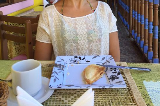 Pousada Pedacinho de Ceu: Na área do café da manhã