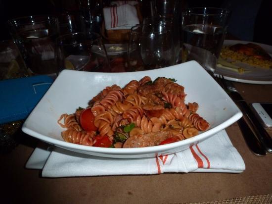 Carlstadt, NJ: Penne Pasta Spanish chorizo, sautéed broccoli rabe, fire roasted tomato, garlic white wine sauce
