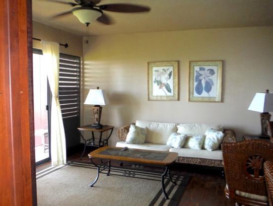 Kaunakakai, Havai: Living Room, C134 Molokai Shores.