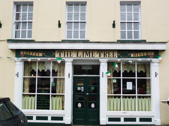 Castlecomer, Ierland: De gevel van Bistro The limetree
