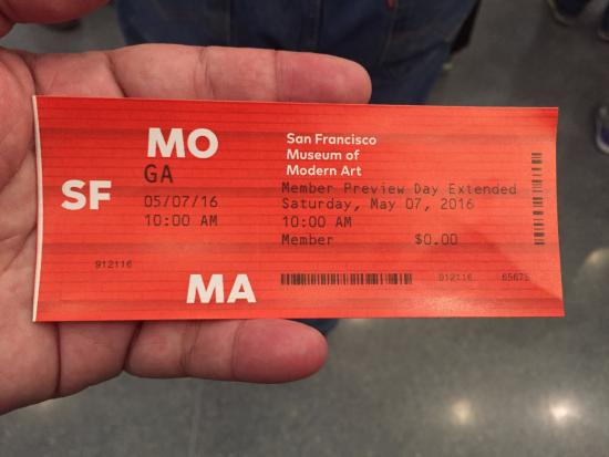 Preview Ticket Picture Of San Francisco Museum Of Modern