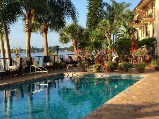 Sebring, Flórida: Pool area looking over Little Lake Jackson