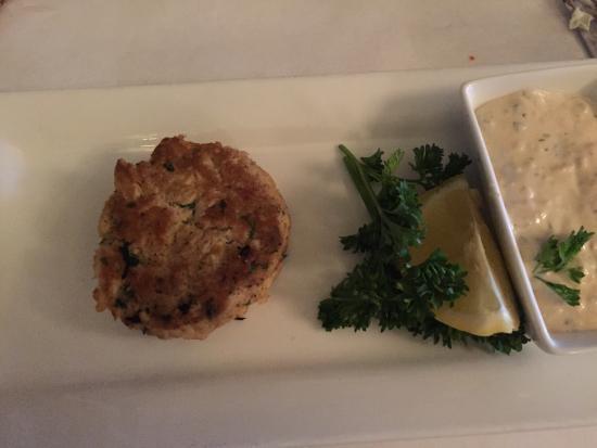 Wilmington, IL: Crab cake appetizer
