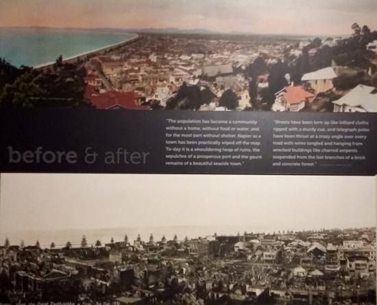 MTG Hawke's Bay: this display showed so well the destruction of the quake