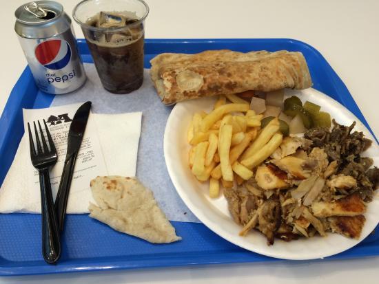 Automatic Restaurant: Sharwama Combo Plate mit Pepsi