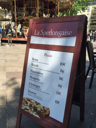 La Sperlongaise - Menus