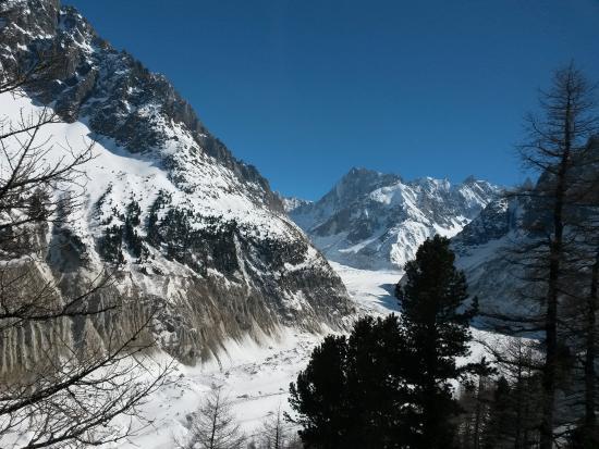Vue piste Picture of Montenvers Mer de Glace train Chamonix