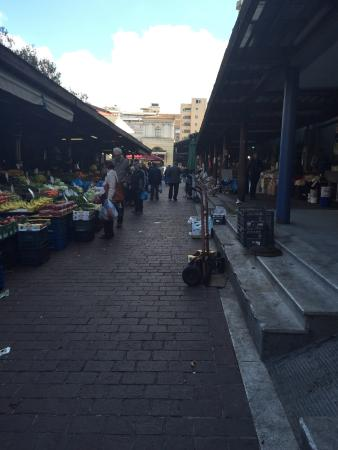 market in front of the hotel picture of athens center square rh tripadvisor com