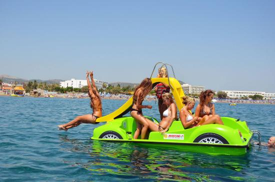 Water Sports Action: Pedal boat for rent!