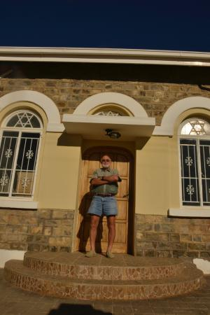 Keetmanshoop, Namibia: Ingo Klitzke, proud owner of the Schutzenhaus.