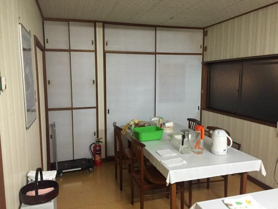 The Kitchen And The Sink For The Upstairs Rooms Scary Scary Picture Of Minshuku Katsuya Shirahama Cho Tripadvisor