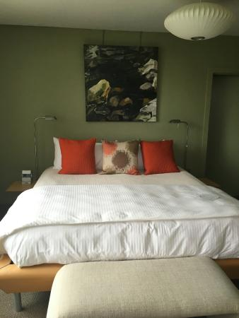 The Guest House at Field Farm: Master bedroom