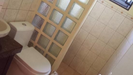 Palms Cove Bohol: 洗面台・トイレ・シャワー