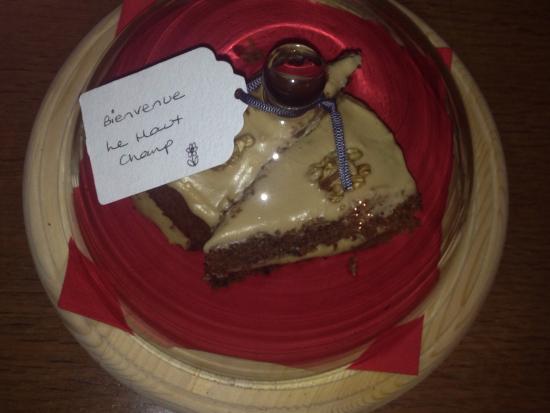 Saint-Hilaire-du-Harcouet, ฝรั่งเศส: Welcome cake
