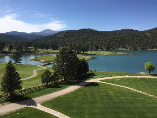 Mescalero, Nuevo Mexico: The view from my room.