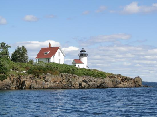 Camden, ME: Curtis Island Lighthouse from Appledore II Day Sail
