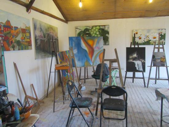 Pirque, Chile: Art in one of the rooms #2