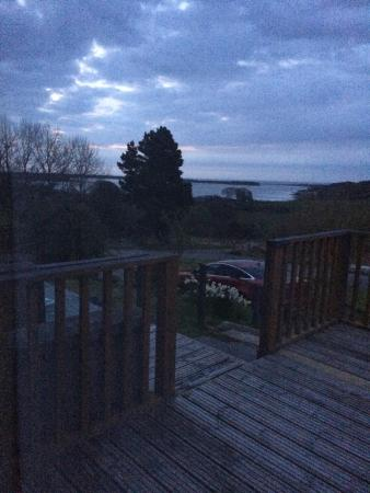 Strathview Lodge Bed and Breakfast: view from our bedroom terrace at sunrise