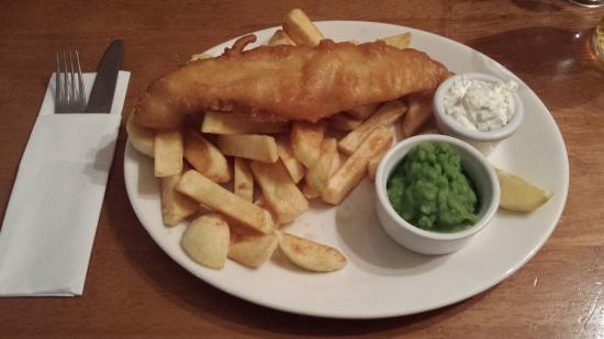 Hoarwithy, UK: cod and chips!!!!