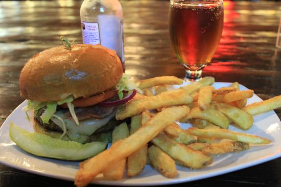 A.B.V. Public House: A hearty meal, A.B.V. burger.