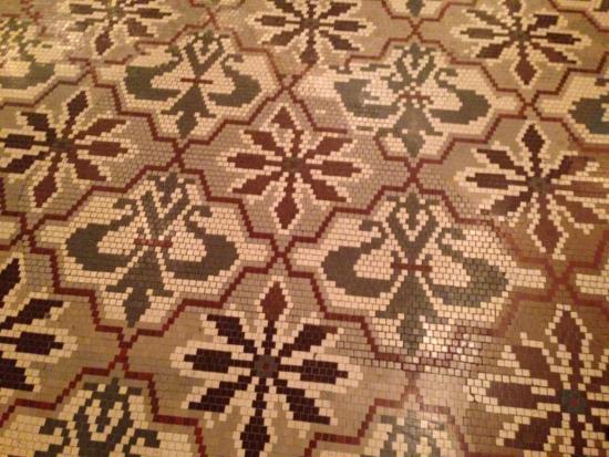 West Baden Springs, IN: Tile work preserved!