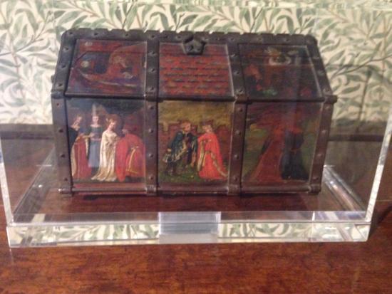 Kelmscott, UK: Jewellery box painted by Rossetti and Lizzie Siddall