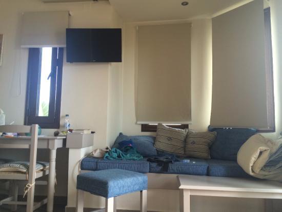 Frideriki Studios & Apartments: Sitting area in the studio