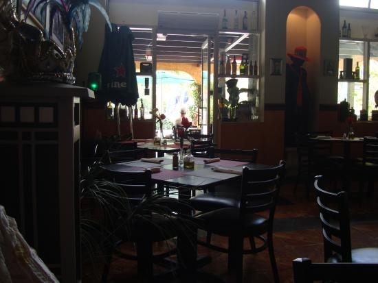 Dali modernistic Tapas: View from our table to the street