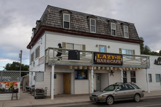 Augusta, MT: Lazy B Bar and Cafe, outside view