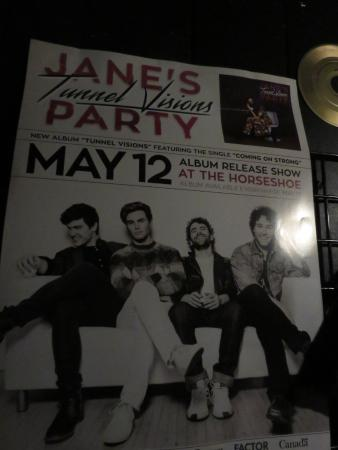 Horseshoe Tavern: Album release party poster on the wally