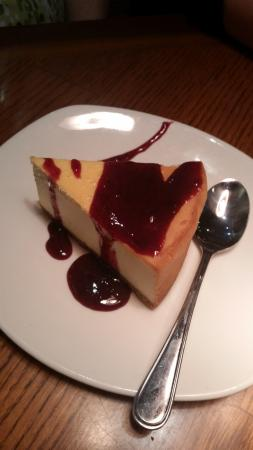 Outback Steakhouse: Cheesecake with Raspberry Topping