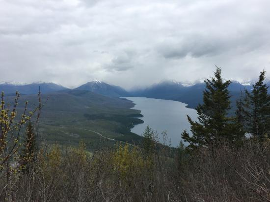 West Glacier, MT : View of McDonald Lake from Apgar Lookout Trail