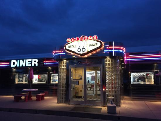 Route 66 diner twilight picture of route 66 diner saint for Diner picture