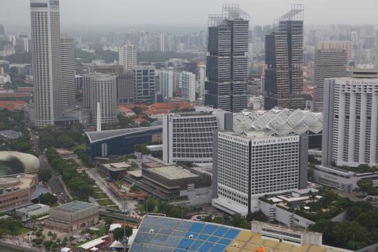 marina bay sands skypark pemandangan kota singapura skypark