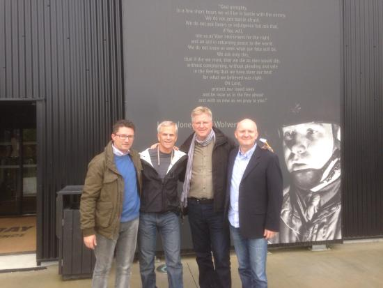 Normandy American Heroes took Rick and Steve on a discovery tour of Utah beach, Brecourt manor (