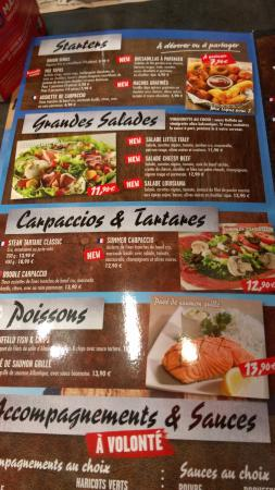 Carte Menu Buffalo Grill.La Carte 2 Picture Of Buffalo Grill Biganos Biganos