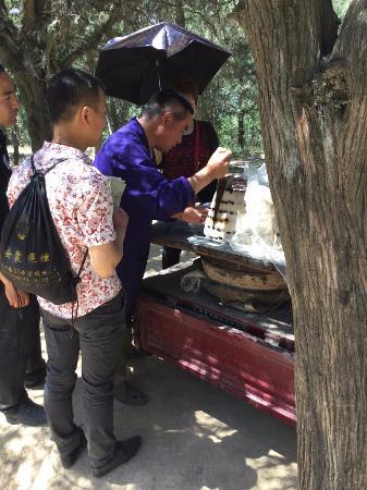 Qian County, Cina: 乾陵内の屋台
