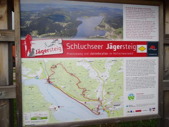 Karte Mit Anzeige Der Rundwanderung Picture Of Jagersteig