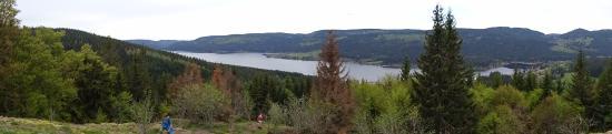 Jägersteig Schluchsee: Panorama auf dem höchsten Aussichtspunkt Bildstein über den ganzen Schluchsee