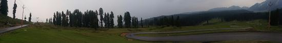 Budgam District, India: 360 degree panorma view of doodhpatri