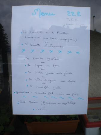 La Bollene Vesubie, Francia: menu à 22 euros