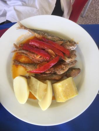 Santa Maria, Portugal: one of our lunches on the tour
