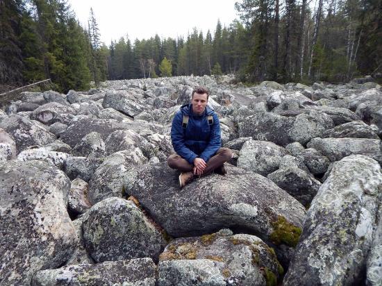 """Beloretsky District, Rosja: Каменная река под Белорецком, где снимались некоторые эпизоды сериала """"Вечный зов"""""""